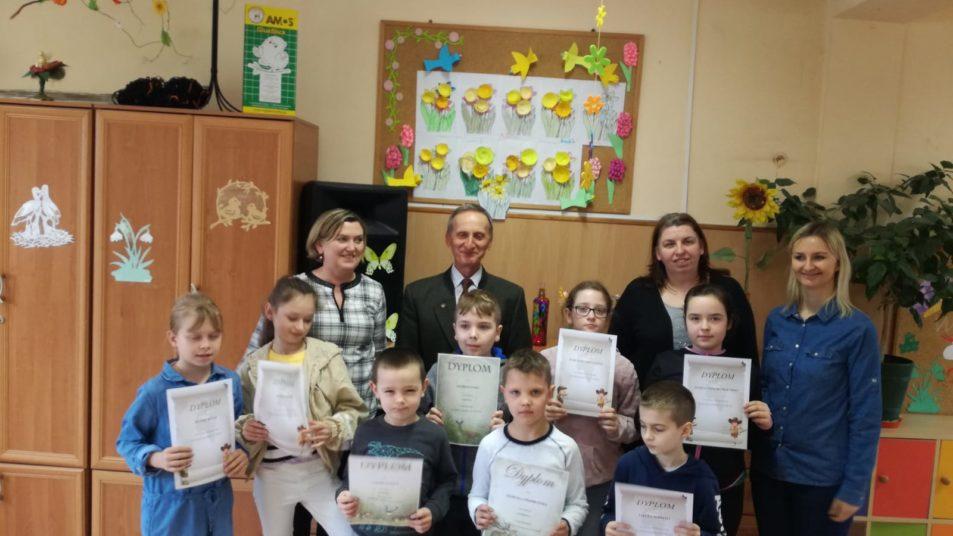 Wręczenie dyplomów za udział w konkursie